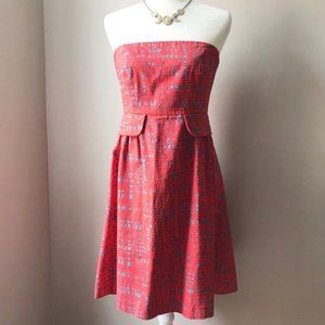 ANTHRO Tabitha Simmons Red Strapless Retro Dress